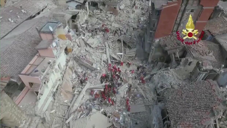 Imágenes desde un drone: los daños causados por el terremoto en Italia