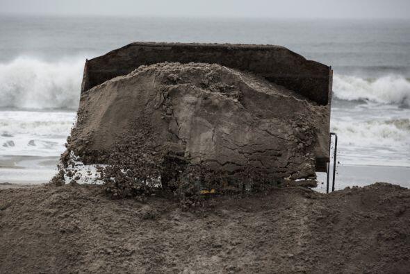 Long Beach, en Nueva York, también sintió los efectos del mal tiempo.