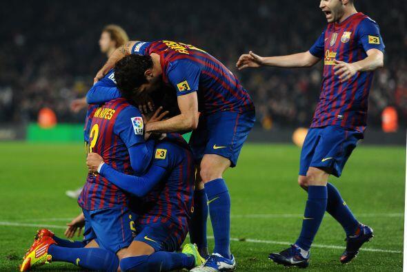 Todo el Campo Nou volvió a la calma con este resultado parcial.