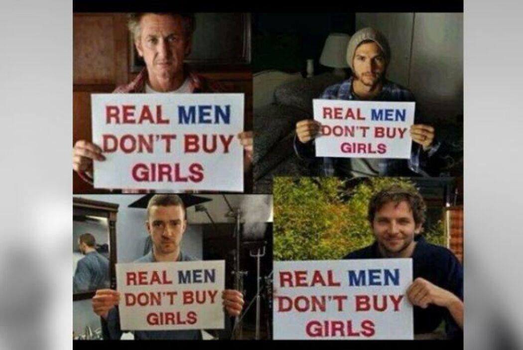 Ashton Kutchner y otros famosos también se unieron a la campaña en contr...