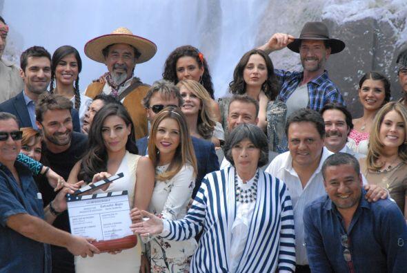 Todo el elenco se reunió en Morelos, México para llevar a cabo el evento.