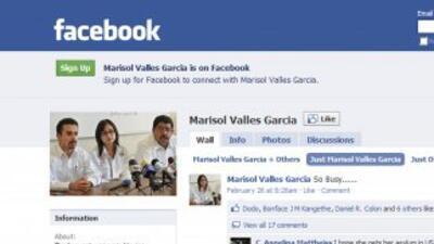 La cuenta de Facebook de Marsisol Valles, donde tiene más de 700 'amigos...
