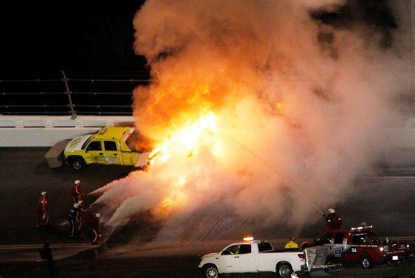 Juan Pablo Montoya, expiloto de Fórmula 1, se vio envuelto en un impresi...