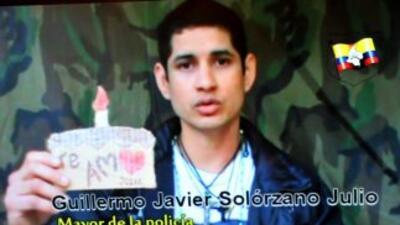 El mayor Guillermo Solórzano es uno de los 5 rehenes que serán liberados...