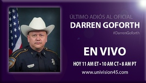 Último adiós al oficial Darren Goforth