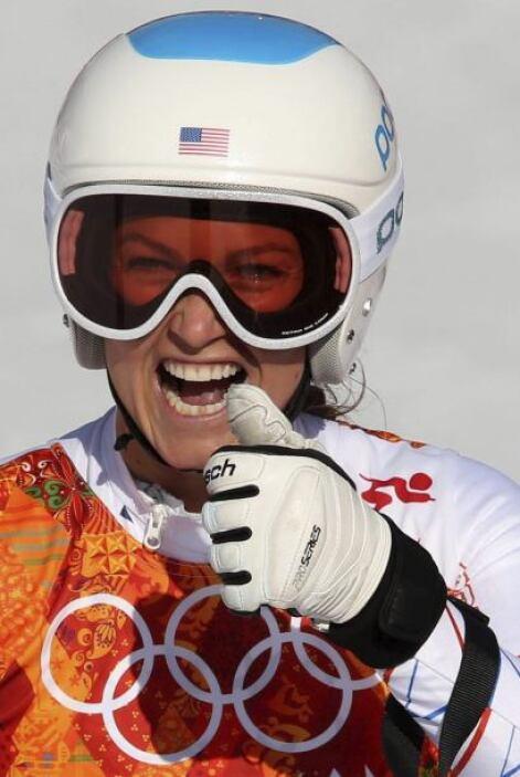 La estadounidense Julia Mancuso compite en la supercombinada femenina en...