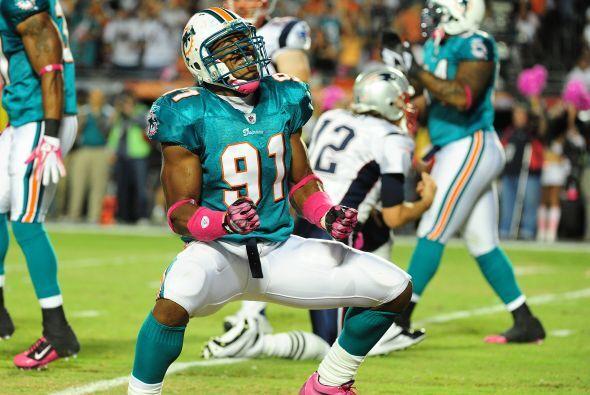 63. Cameron Wake (apoyador - Miami Dolphins)