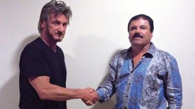 """La cena de Sean Penn y Kate del Castillo con """"El Chapo"""" durante la fuga..."""