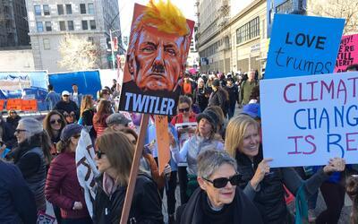 Así transcurrió la 'Marcha de las Mujeres' contra Trump en...