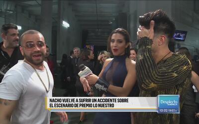 OMG! Nacho se quemó en pleno show