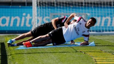 El mexicano ya tuvo participación en la práctica con sus nuevos compañer...