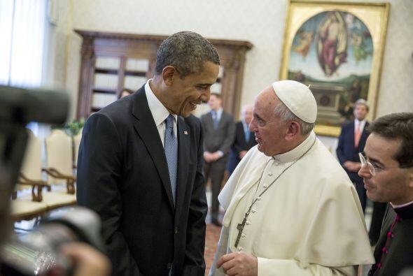 El presidente Barack Obama es el tercer presidente en recibir a un Papa...