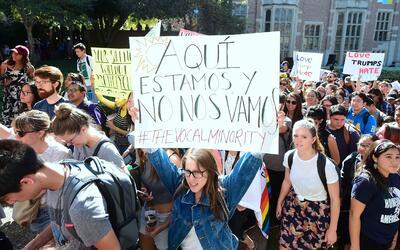 Protestas contra la elección de Donald Trump en la Universidad de...