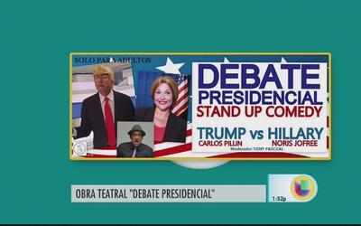 Realizarán Stand Up Comedy que parodia debates entre Hillary Clinton y D...