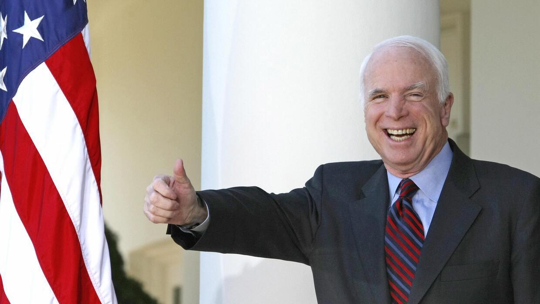 John McCain recibió en 2008 el respaldo de los expresidentes mucho antes...