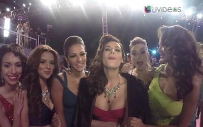 Las chicas de Nuestra Belleza Latina 2015 en Premio Lo Nuestro