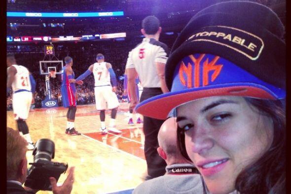 La estrella de cine acudió al encuentro entre losKnicks y P...