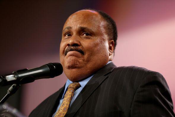 En el acto también participó Martin Luther King III, hijo...