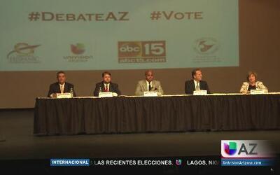Tensión durante el debate de candidatos