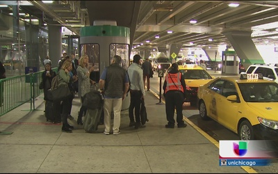 Día de huelga de taxistas en Chicago