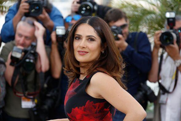Salma deslumbró a la prensa internacional.