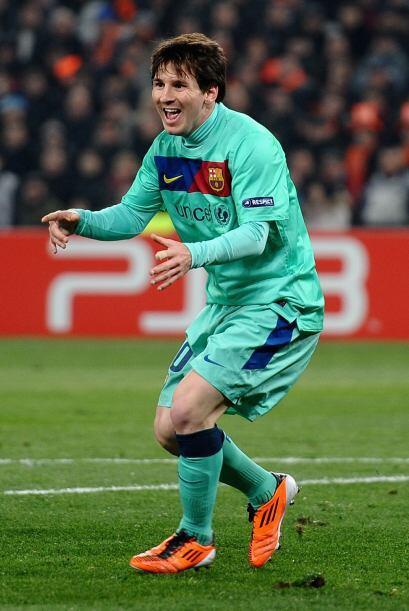 Messi festejaba la primera anotación de los catalanes.