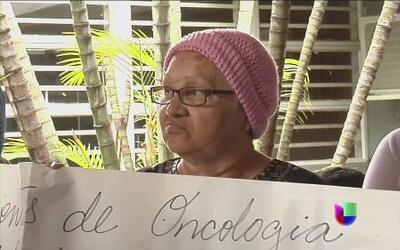 Enfermos de cáncer protestan en Venezuela