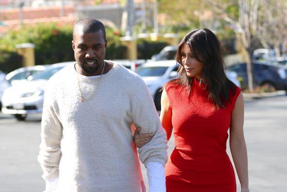La estrella de televisión fue al cine con su amado Kanye West y p...