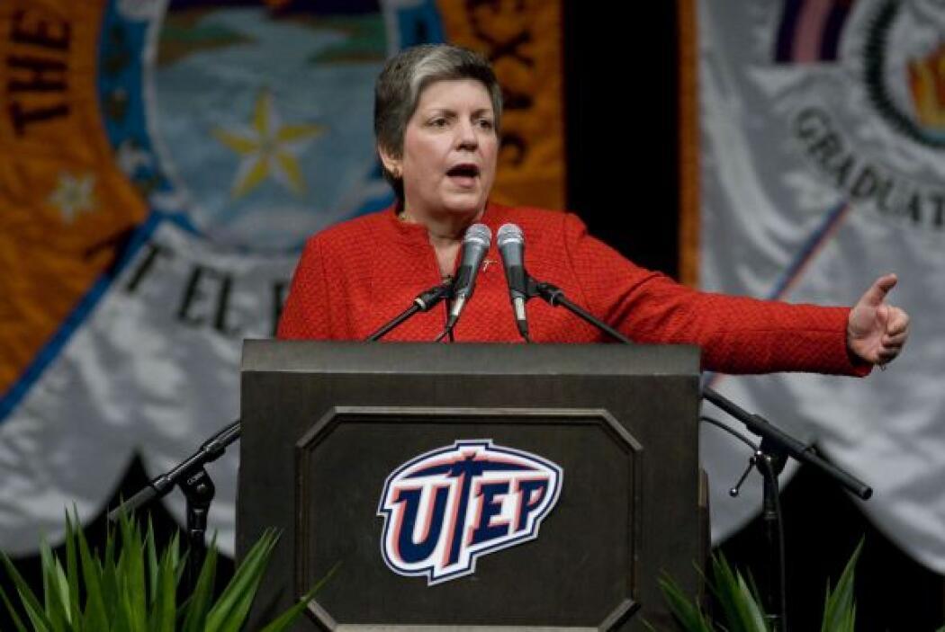 La secretaria de Seguridad Nacional, Janet Napolitano tras condenar el a...