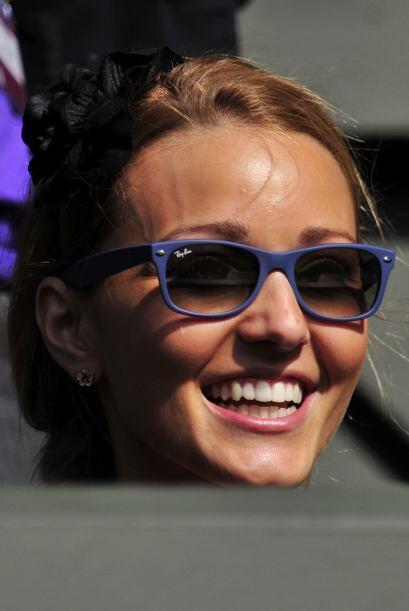 Otra bella que estuvo apoyando a su compañero fue Jelena Ristic, la novi...