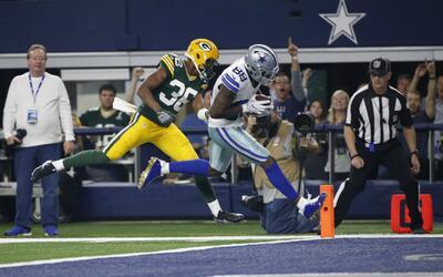 Los Cowboys despertaban con este pase de Prescott a Bryant