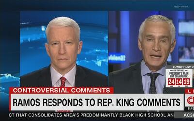 """Jorge Ramos le responde a Steve King: """"la esencia de EEUU es su diversidad"""""""