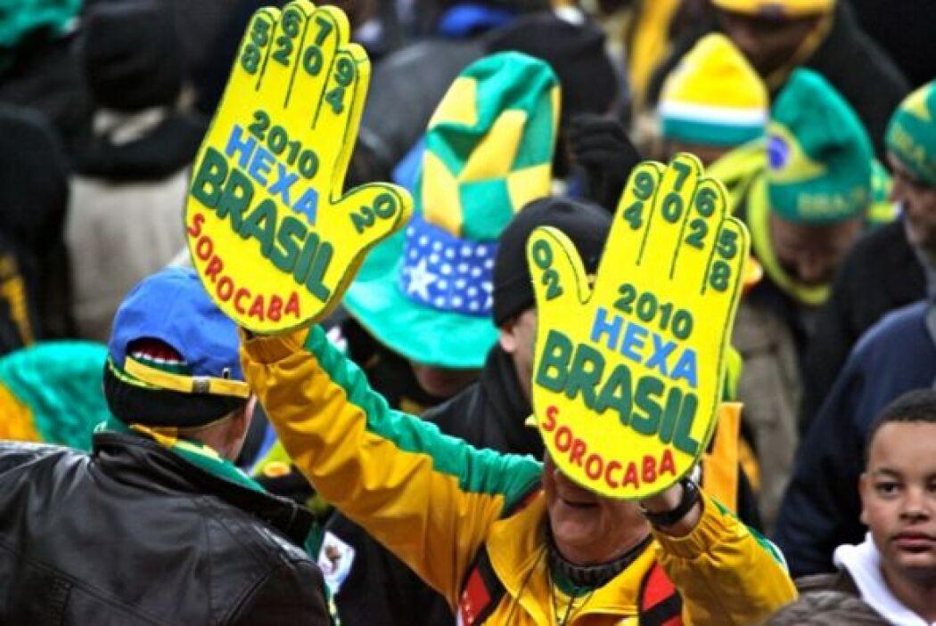 Los aficionados brasileños ya sueñan con el con el Hexacampeonato.