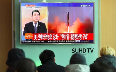 Corea del Norte lanza misil