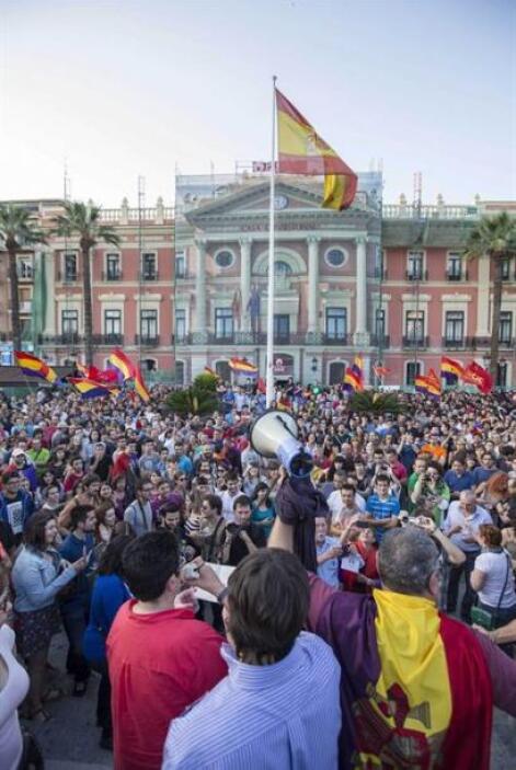 En Galicia las protestas se concentraron en A Coruña y Santiago.