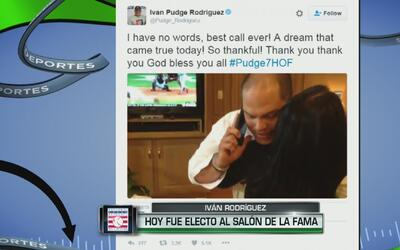 Así se emocionó Iván Rodríguez cuando le comunicaron que había entrado a...