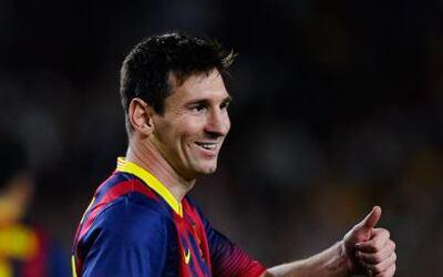 Este miércoles el astro argentino del Barcelona Lionel Messi dio una aut...