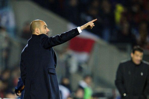 Guardiola mandó a sus muchachos al ataque en busca del empate.