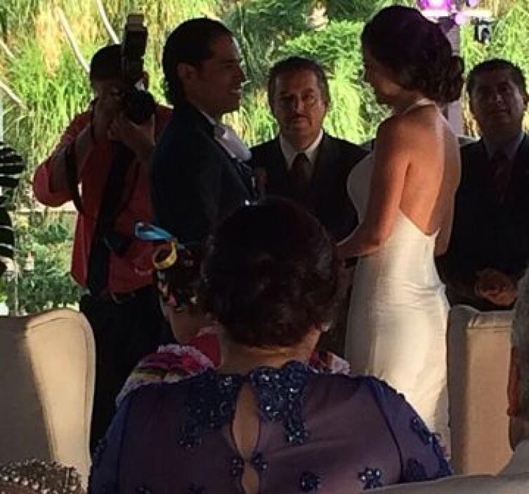 Esta es la vista de la ceremonia desde donde se encuentran los invitados...