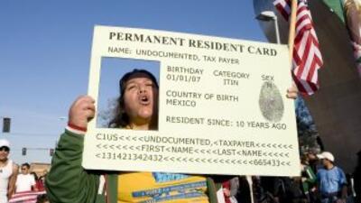 Protestas por la Green Card.
