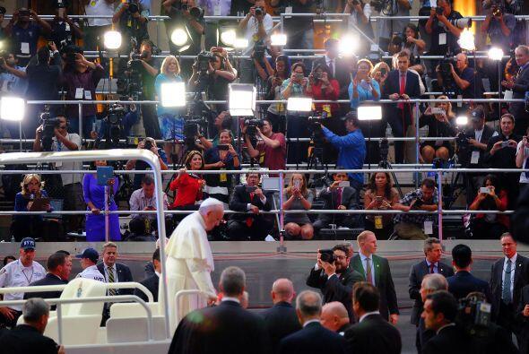 La llegada a la catedral.