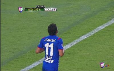 Monterrey vs Cruz Azul: Gran definición de cabeza de Rojas para el empat...