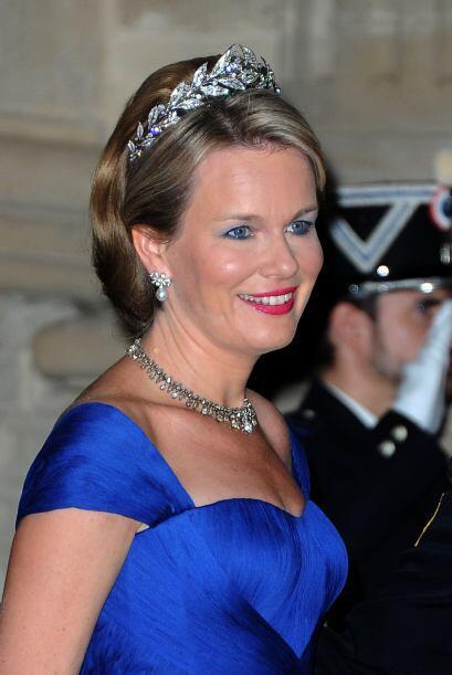 En la boda del príncipe Guillaume de Luxemburgo, la princesa Matilde  de...
