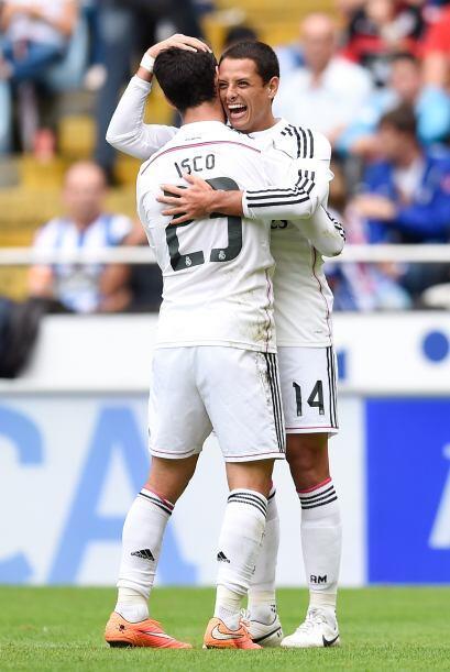 Fue el octavo gol del Madrid en una tarde soñada para el Chichari...