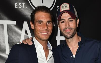 Enrique Iglesias y Rafael Nadal inauguraron un restaurante en Miami Beach