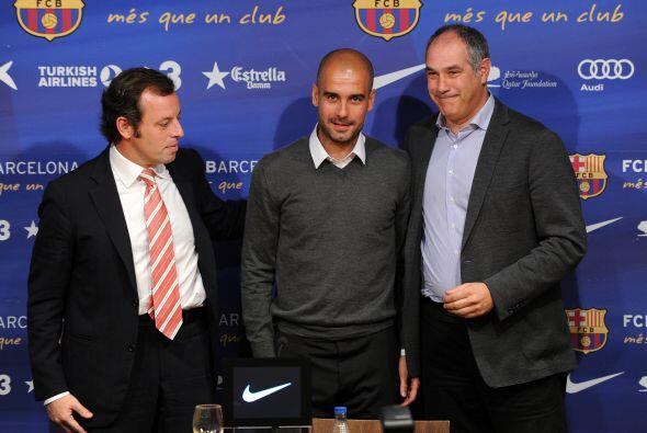 Guardiola se despidió del Barcelona en conferencia de prensa. Var...