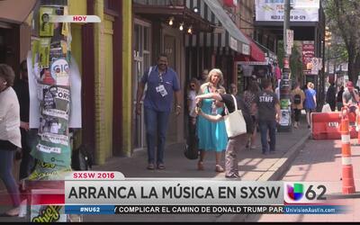 Arrancan series de conciertos en South by Southwest