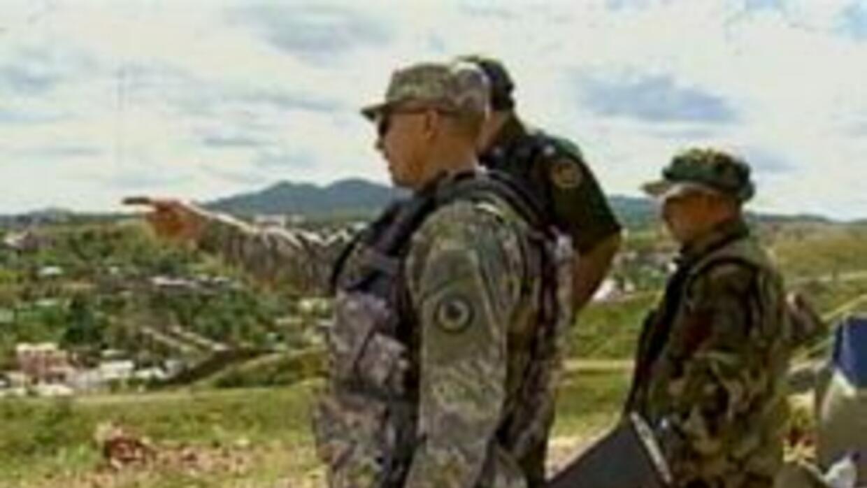 Soldados de la guadia nacional llegan a la frontera Arizona-Mexico
