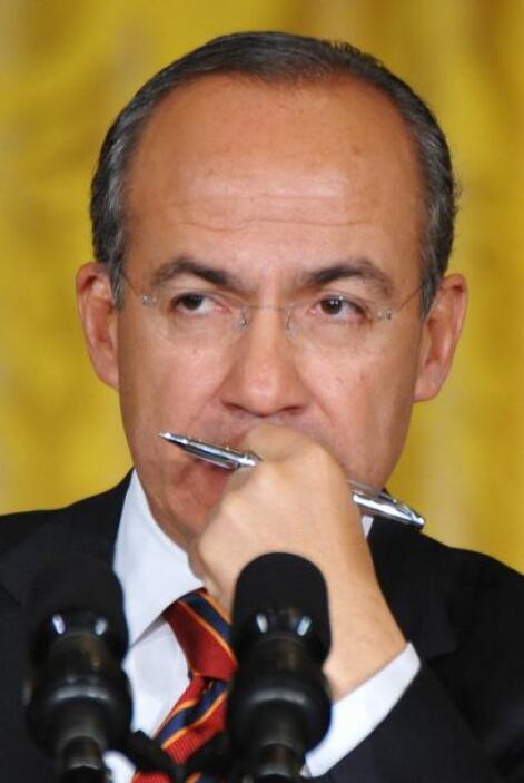 Calderón afirmó que 'sé que juntos podremos lograr avances cada vez mayo...
