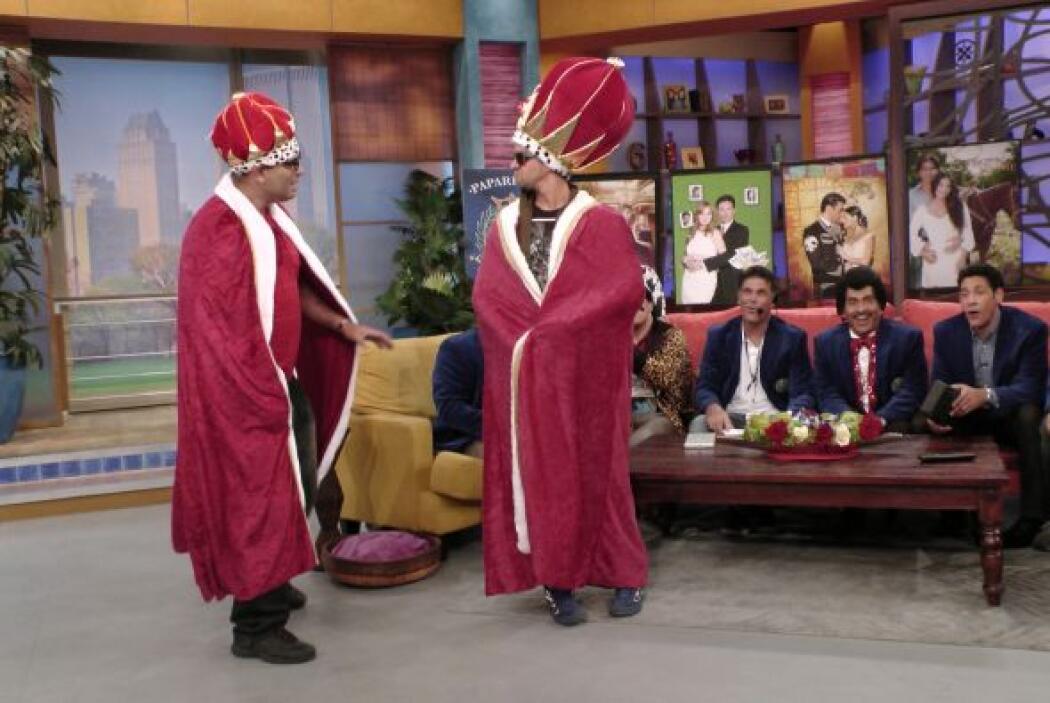 ¡No, no estás viendo doble! ¡Esta vez había dos reyes!